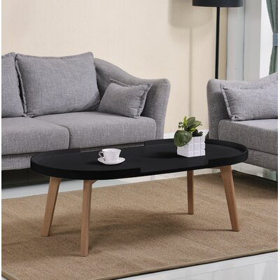 Simkins Raised Edge Coffee Table Table Top Color: Matte Black