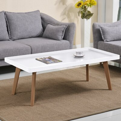 Simmerman Raised Edge Coffee Table Table Top Color: Matte White