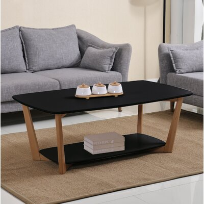 Simmon Coffee Table Table Top Color: Matte Black