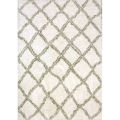 Tryon White/Silver Area Rug Rug Size: Rectangle 53 x 77