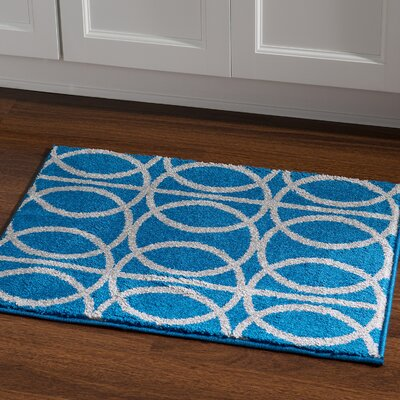 Mancini Blue Area Rug Rug Size: Rectangle 2 x 3
