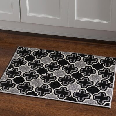 Biquele Black / Grey Area Rug Rug Size: Rectangle 2 x 3
