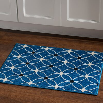 Belding Machine Woven Blue Area Rug Rug Size: Rectangle 2 x 3