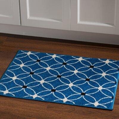 Belding Machine Woven Blue Area Rug Rug Size: Rectangle 2 x 3