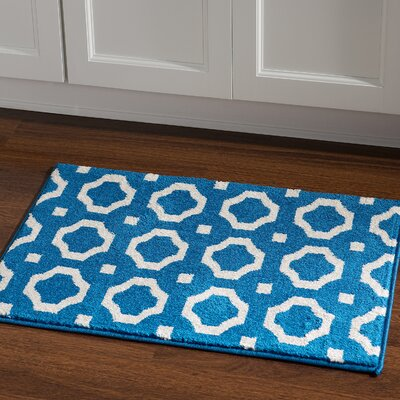 Hamza Blue Area Rug Rug Size: Rectangle 2 x 3