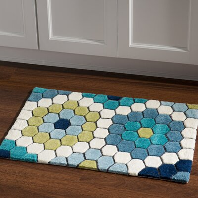 Scheidt Hand-Tufted Blue/Green Outdoor Area Rug Rug Size: Rectangle 110 x 210