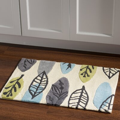 Scheidt Tropical Hand-Tufted Blue/Green Outdoor Area Rug Rug Size: Rectangle 110 x 210