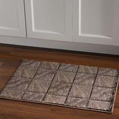 Boler Brown/Beige Area Rug Rug Size: Rectangle 111 x 21