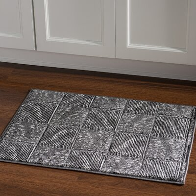 Boler Black/Grey Area Rug Rug Size: Rectangle 111 x 21