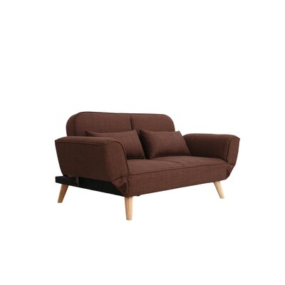 Dierks Modern Living Room Sofa Upholstery: Brown