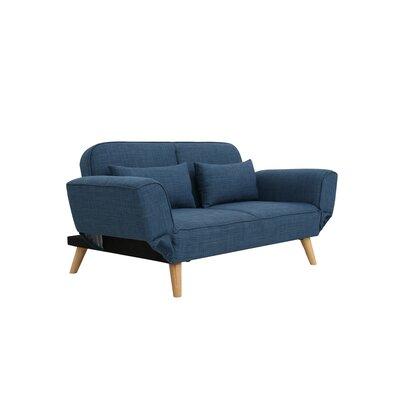 Dierks Modern Living Room Sofa Upholstery: Blue