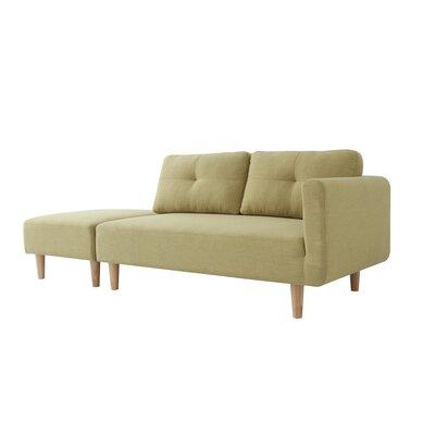 Dierks Modern Sleeper Sofa Upholstery: Green