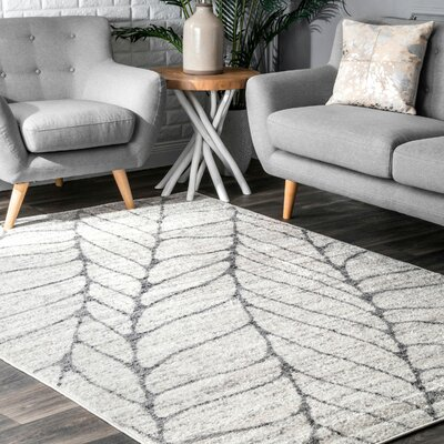 Sackett Light Gray Area Rug Rug Size: Rectangle 2 x 3
