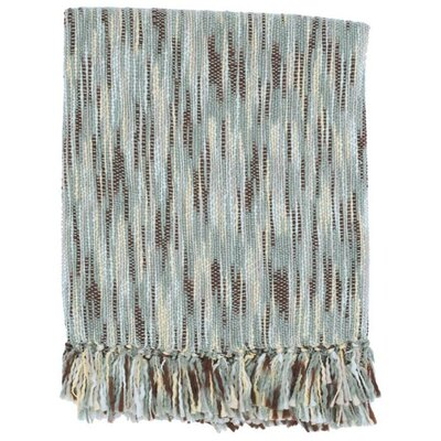 Charisma Striped Throw Blanket Color: Yellow / Blue