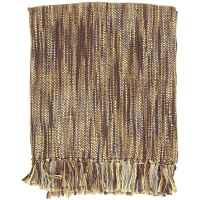 Charisma Striped Throw Blanket Color: Brown / Gray / Ivory