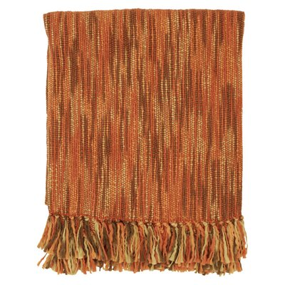 Charisma Striped Throw Blanket Color: Rust / Brown / Camel