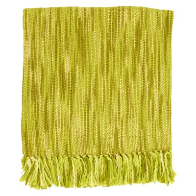 Charisma Striped Throw Blanket Color: Citrus / Green / Ivory