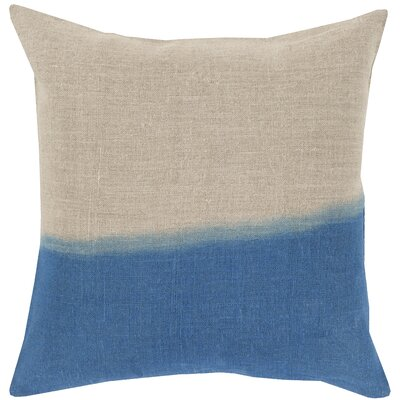 Humberto Linen Throw Pillow Size: 22 H x 22 W x 4 D, Color: Blue, Filler: Down