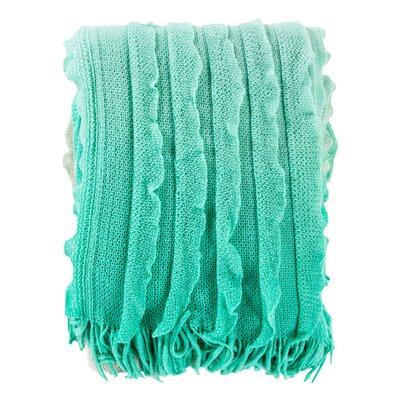Tasha Throw Blanket Color: Mint