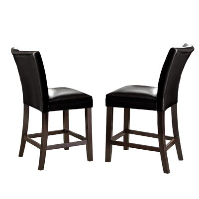 Mcneel Parsons Chair (Set of 2) Upholstery: Black