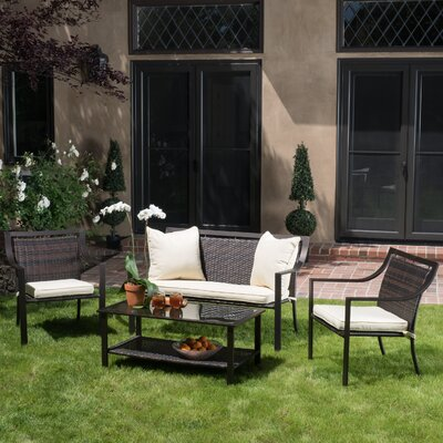 Gaddy 4 Piece Deep Seating Group with Cushions