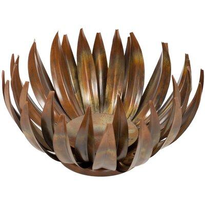 Brayden Studio Iron Dish Set - Size: Medium, Style: Lotus Flower