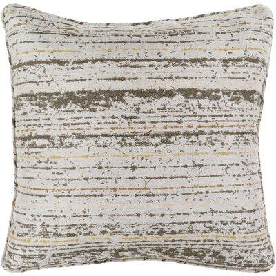 Lamborn Outdoor Throw Pillow Size: 16 H x 16 W x 4 D, Color: Olive/Light Gray