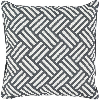 Moyers Outdoor Throw Pillow Size: 20 H x 20 W x 4 D, Color: Black