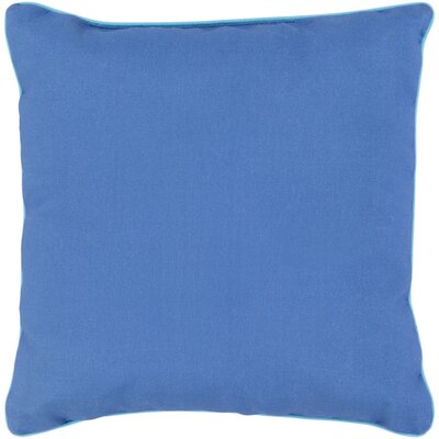 Mowery Outdoor Throw Pillow Size: 16 H x 16 W x 4 D, Color: Cobalt