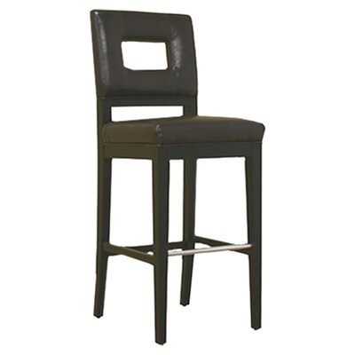 Marcantel 30 Bar Stool Upholstery: Brown