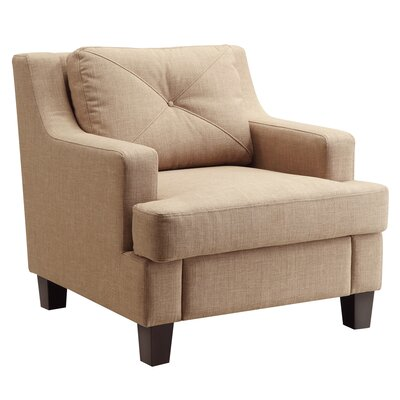 Darion Armchair Upholstery: Light Brown
