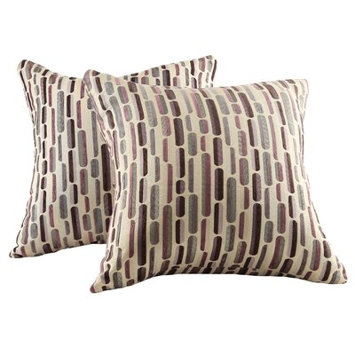 Alcina Throw Pillow Color: Purple Tonal