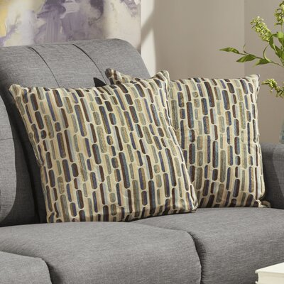Alcina Throw Pillow Color: Earth Tonal