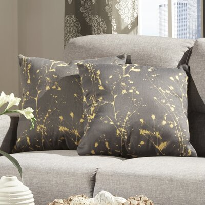 Alcina Throw Pillow in Yellow Ink Splash