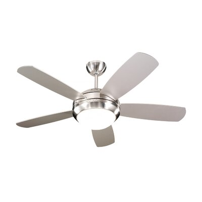 44 Beltran 5-Blade Ceiling Fan Finish: Brushed Steel