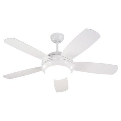 44 Mraz 5-Blade Ceiling Fan Finish: White