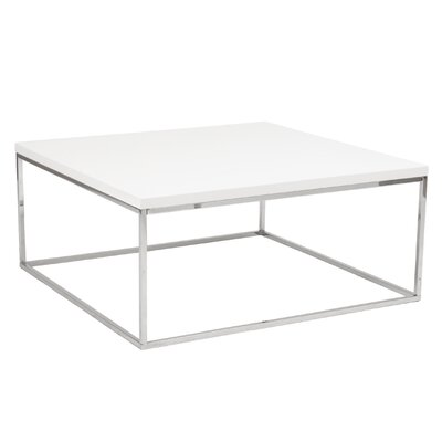 Mia Coffee Table Color: White Lacquer