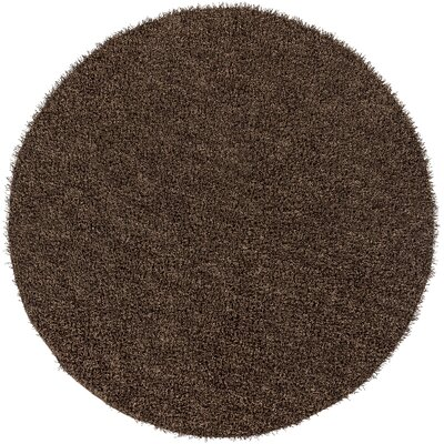 Mchaney Hand-Tufted Brown Area Rug Rug Size: Round 8