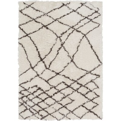 Manzer Hand-Tufted Ivory Area Rug Rug Size: 5 x 76