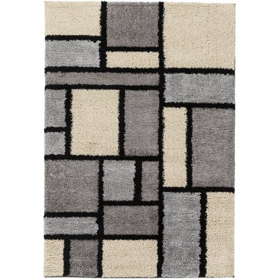 Beal Gray/Ivory Area Rug Rug Size: Rectangle 53 x 76
