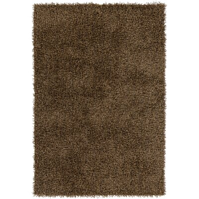 Mchaney Hand-Tufted Brown Area Rug Rug Size: Round 9'