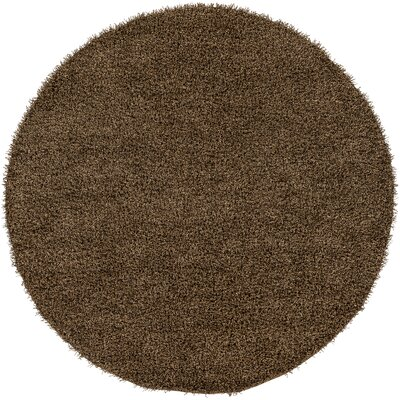 Mchaney Hand-Tufted Brown Area Rug Rug Size: Round 8'