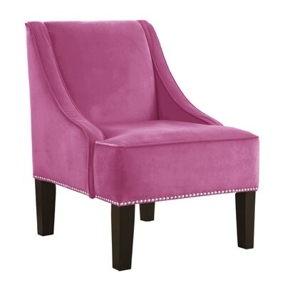 Premier Nail Button Swoop Arm Chair Color: Hot Pink