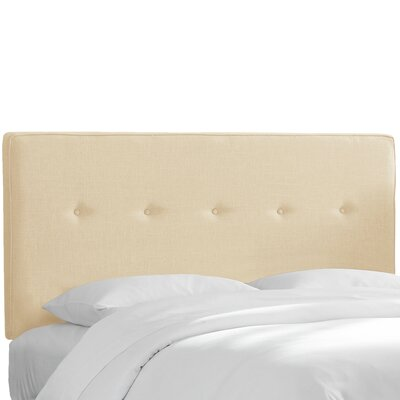 Monteiro Twill Upholstered Panel Headboard Size: Queen, Upholstery: Natural