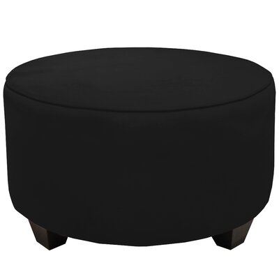 Round Cocktail Ottoman Color: Black
