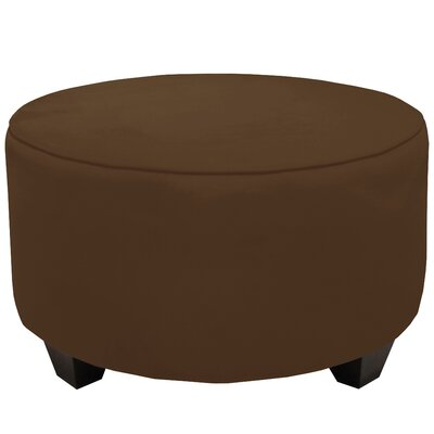 Round Cocktail Ottoman Color: Chocolate
