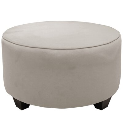 Round Cocktail Ottoman Color: Light Gray