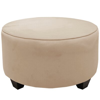 Round Cocktail Ottoman Color: Pearl