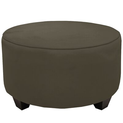 Round Cocktail Ottoman Color: Pewter