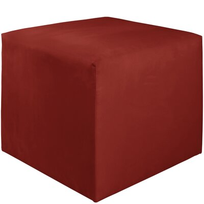 Premier Cube Ottoman Color: Red